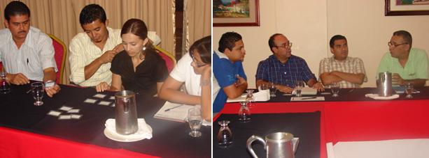 Representantes de empresas proveedoras invitadas al taller.