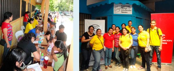 Equipo de voluntarios durante la jornada con Operación Sonrisa.