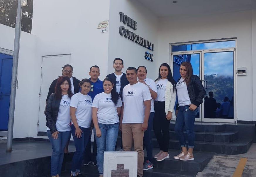 Equipo de voluntarios de Consortium en Tegucigalpa que estuvieron en la actividad.